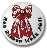 Red Ribbon Week Buttons
